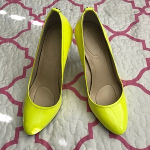 Neon Green Patent Leather Pumps Sz 7.5